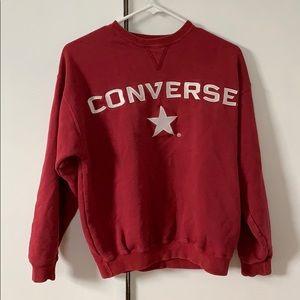 red Converse crewneck sweatshirt